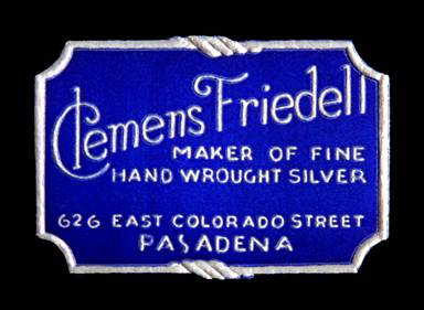 Clemens Friedell paper label