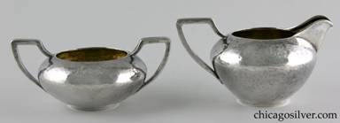 Clemens Friedell silver creamer and sugar