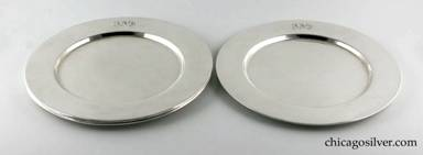 Clemens Friedell silver dinner plates