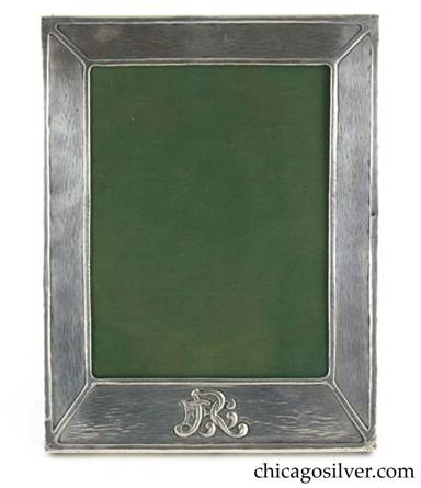 Clemens Friedell silver picture frame with hinged stand