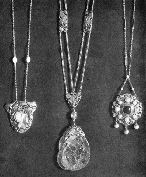 More handwrought pendants by Frank Gardner Hale