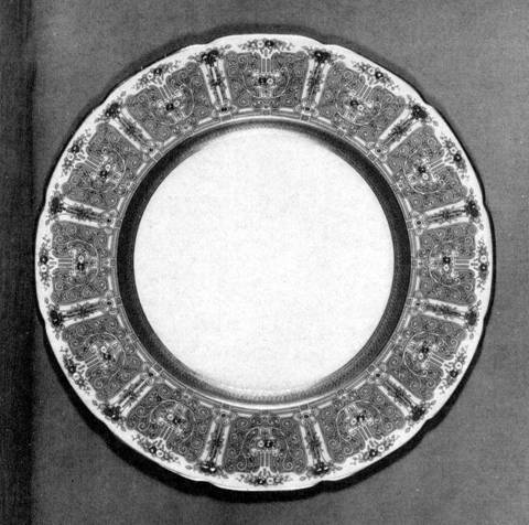 Service plate, designed by Frank Gardner Hale; executed by Lenox, Inc.