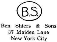 Ben Shiers & Sons jewelry mark