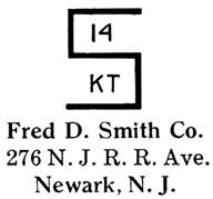 Fred D. Smith Co. jewelry mark