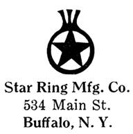 Star Ring Mfg. Co. jewelry mark
