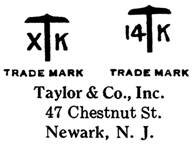 Taylor & Co. jewelry mark