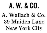 A. Wallach & Co. jewelry mark