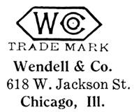 Wendell & Co. jewelry mark