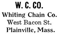 Whiting Chain Co. jewelry mark