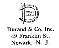 Durand & Co. jewelry mark