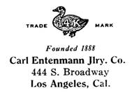 Carl Entenmann Jewelry Co. jewelry mark