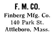 Finberg Mfg. Co. jewelry mark