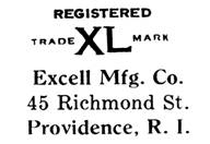 Excell Mfg. Co. jewelry mark