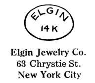 Elgin Jewelry Co. jewelry mark