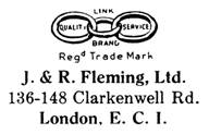 J. & R. Fleming jewelry mark