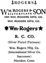 William Rogers Mfg. Co. silver mark