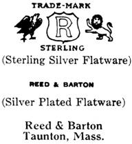 Reed & Barton silver mark