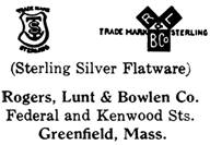 Rogers, Lunt & Bowlen Co. silver mark