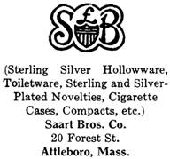 Saart Bros. Co. silver mark
