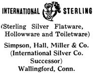 Simpson, Hall, Miller & Co. silver mark
