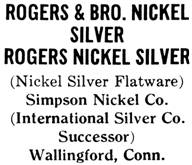Simpson Nickel Co. silver mark