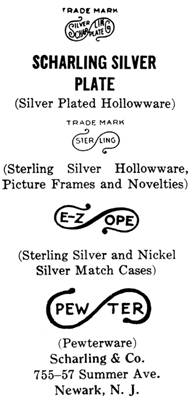 Scharling & Co. silver mark