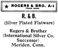 Rogers & Brother silver mark