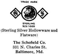 Schofield Co. silver mark