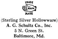 A. G. Schultz Co. silver mark