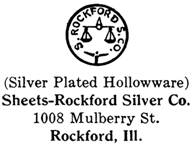 Sheets-Rockford Silver Co. silver mark