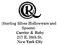 Currier & Roby silver mark
