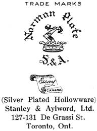 Stanley & Aylword silver mark