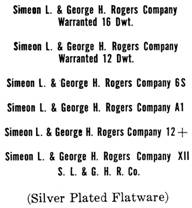 Simeon L. & George H. Rogers Co. silver mark