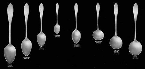 Illustrated guide to different types of flatware and servers