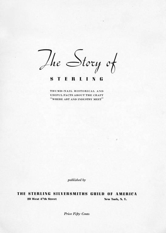 Page from The Story of Sterling